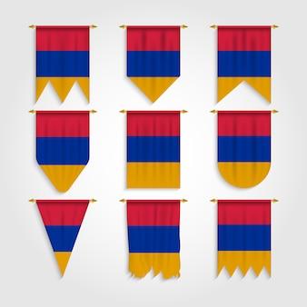 Bandiera dell'armenia in diverse forme