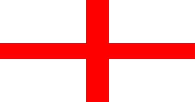 Bandiera dell'illustrazione dell'inghilterra