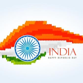Bandiera dell'india fatta con i puntini