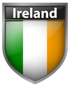 Bandiera dell'irlanda sul badge