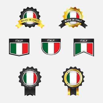Bandiera dell'italia con design distintivo dell'emblema