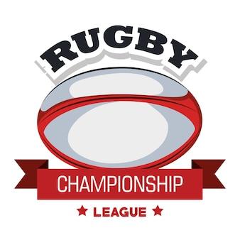 Bandiera della lega di campionato di rugby della palla