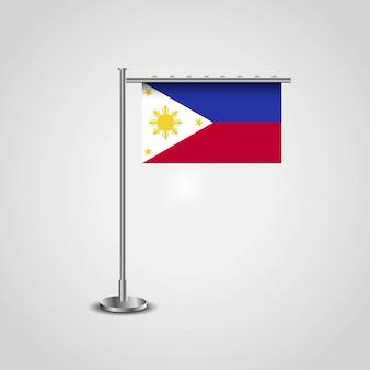 Bandiera delle filippine con il vettore di design creativo