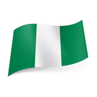 Bandiera dello stato della nigeria.