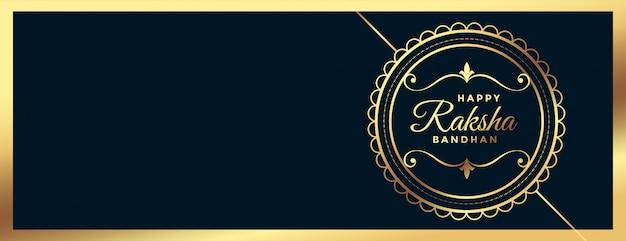 Bandiera di festival bandhan dorato elegante raksha