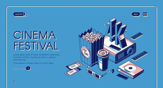 Bandiera di intrattenimento di tempo di film festival del cinema