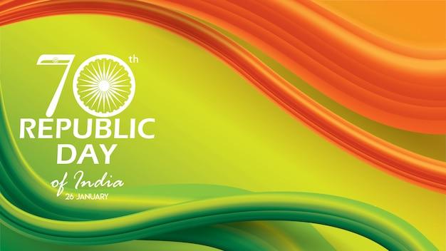 Bandiera di progettazione del fondo di repubblica day of india
