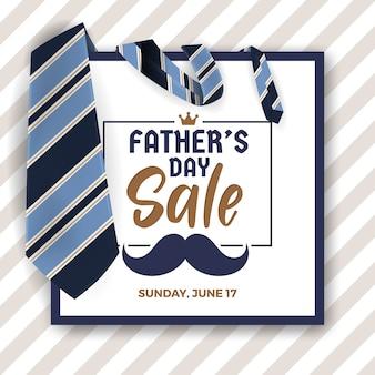 Bandiera di promozione di vendita di festa del papà