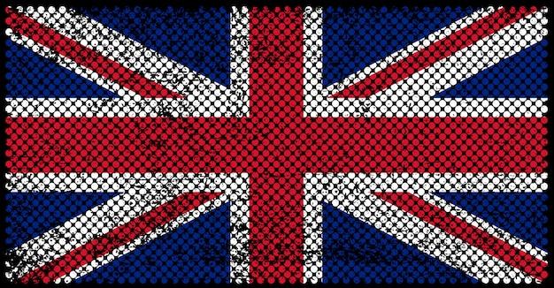 Bandiera di regno unito in stile sgangherato