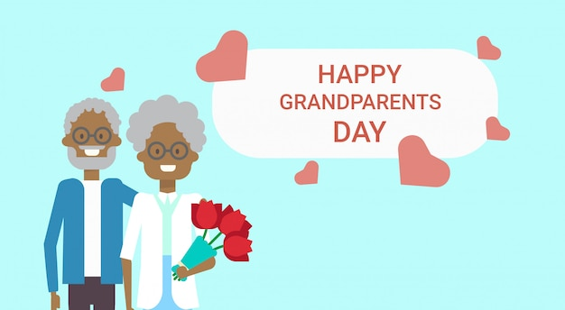 Bandiera di saluto felice giorno dei nonni