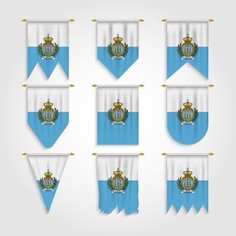 Bandiera di san marino in diverse forme