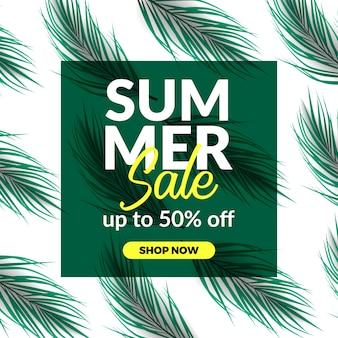 Bandiera di sconto di offerta di vendita di vacanze estive