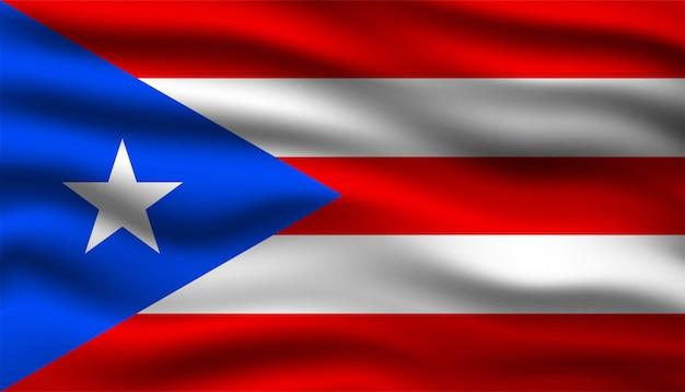 Bandiera di sfondo di porto rico.