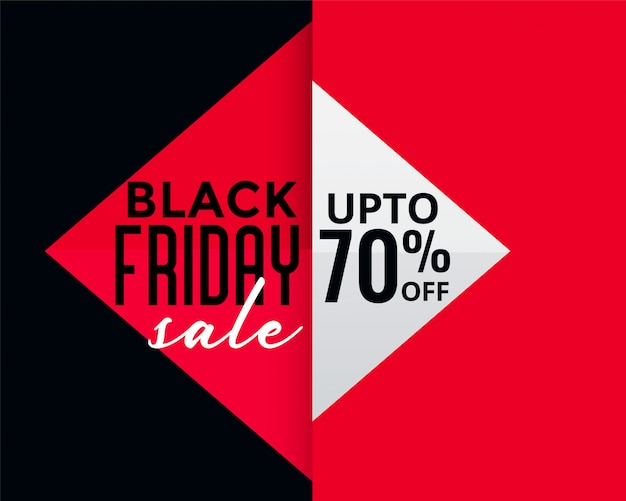 Bandiera di vendita creativa di venerdì nero di stile geometrico