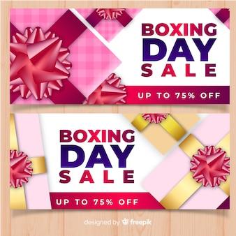 Bandiera di vendita di giorno di boxe arco di metallix