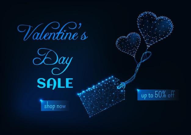 Bandiera di vendita di giorno di san valentino