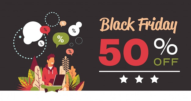 Bandiera di vendita di offerta speciale del black friday