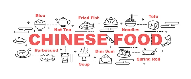 Bandiera di vettore di cibo cinese