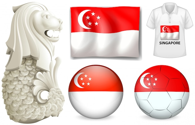 Bandiera e simbolo di singapore