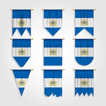 Bandiera el salvador in varie forme