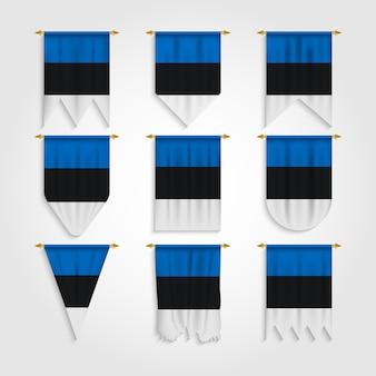 Bandiera estonia in diverse forme