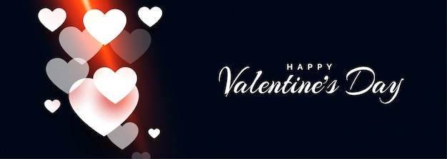 Bandiera felice attraente dei cuori di giorno dei biglietti di s. valentino