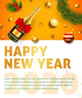 Bandiera festiva di felice anno nuovo