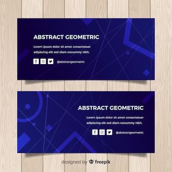 Bandiera geometrica astratta