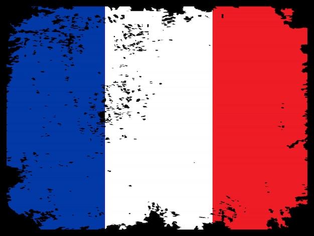 Bandiera grunge della francia come sfondo