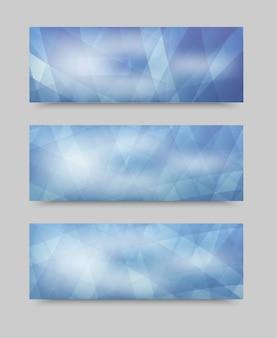 Bandiera impostata geometrica vettoriale. modello brochure