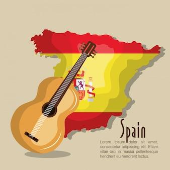 Bandiera musica spagna design