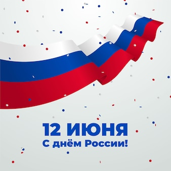 Bandiera realistica della russia