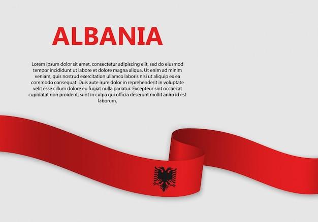 Bandiera sventolante bandiera dell'albania