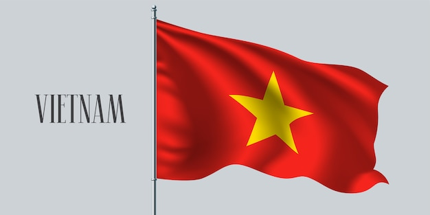 Bandiera sventolante del vietnam