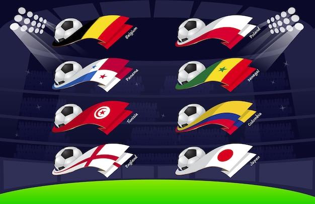 Bandiera world soccer 2018 vol4