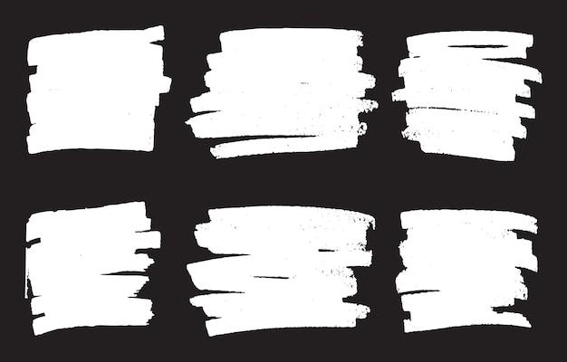 Bandiere bianche astratte del grunge
