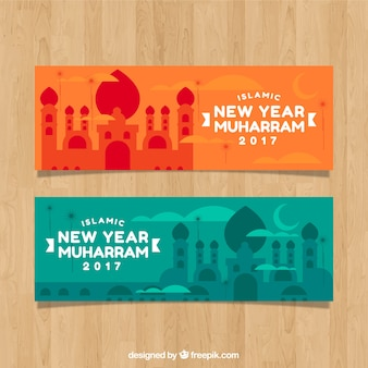 Bandiere colorate di muharram