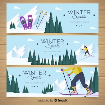 Bandiere degli sport invernali