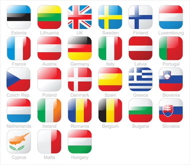 Bandiere dei paesi europei