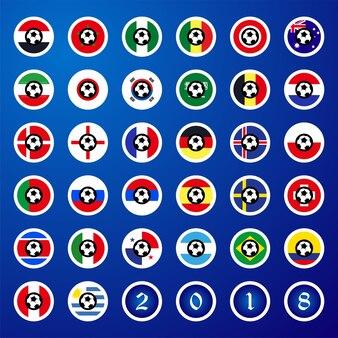 Bandiere dei paesi per il campionato del mondo di calcio