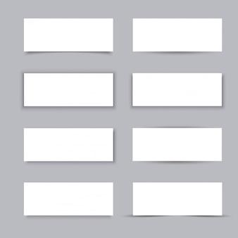 Bandiere di affari di carta bianca vuota