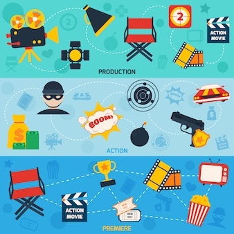 Bandiere di film d'azione