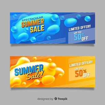 Bandiere di forma liquida di vendita di estate