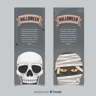 Bandiere di halloween disegnato a mano originale