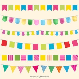 Bandiere di partito illustrazione