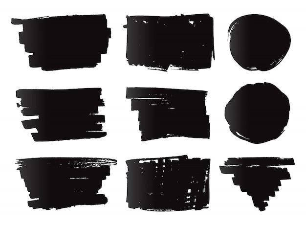 Bandiere di pennarello nero