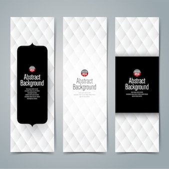 Bandiere di sfondo tappezzeria in bianco e nero