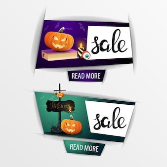 Bandiere di vendita di halloween con zucca jack