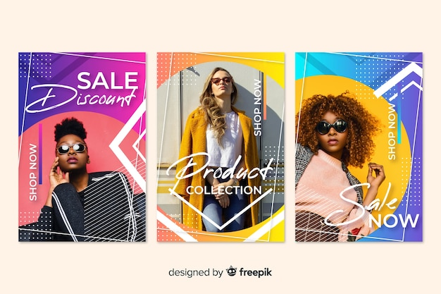 Bandiere di vendita di moda con foto