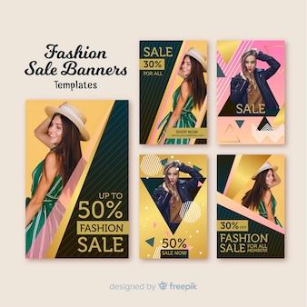 Bandiere di vendita di moda